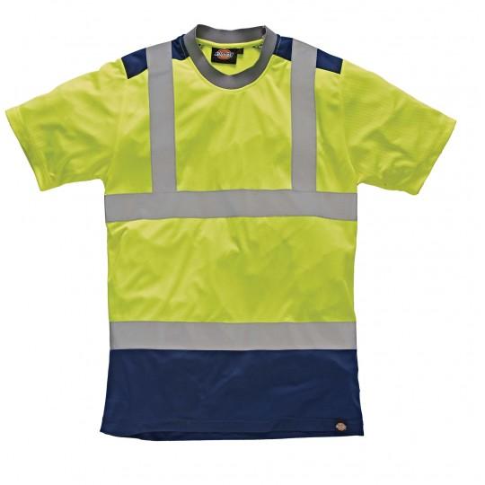 Tshirt de alta visibilidade bicolor