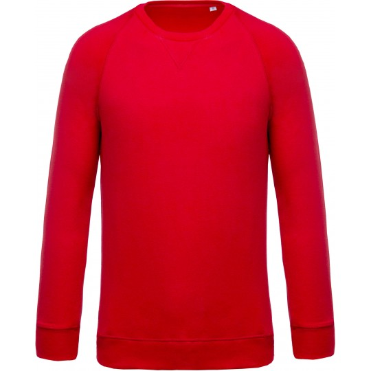 Sweatshirt Bio de homem com decote redondo e mangas raglan