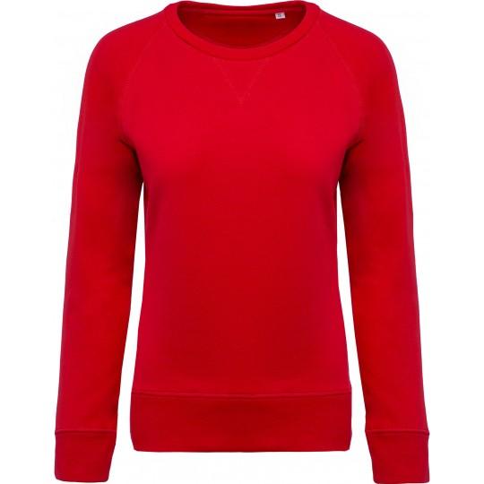 Sweatshirt BIO de senhora com decote redondo raglan