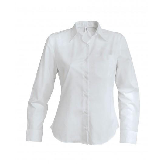 Camisa de senhora manga comprida em oxford de tratamento fácil