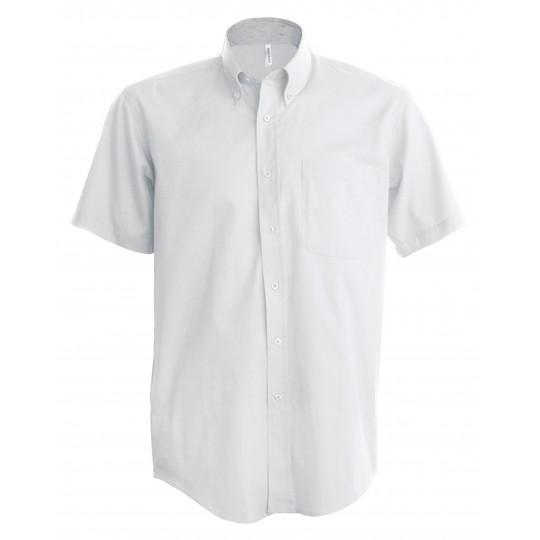 Camisa manga curta em oxford de tratamento fácil