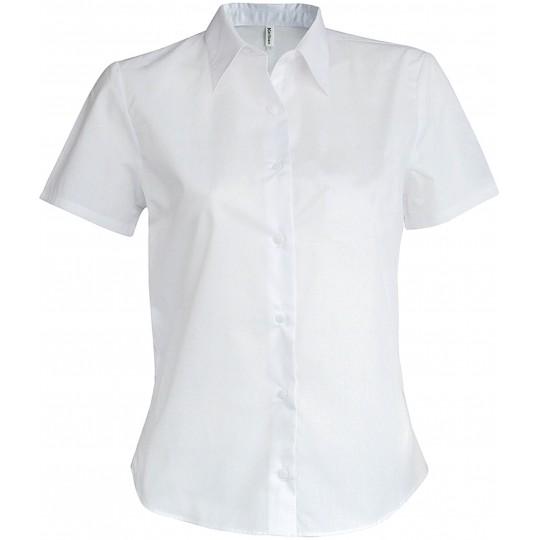 Camisa de senhora manga curta em oxford tratamento fácil