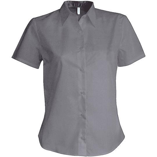 Camisa de senhora manga curta em oxford Kariban®