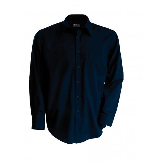 Camisa manga comprida em popeline de tratamento fácil
