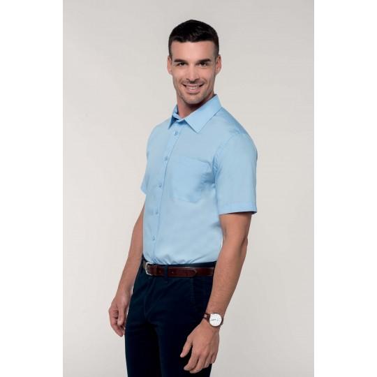 Camisa de manga curta popelina tratamento fácil BRANCA