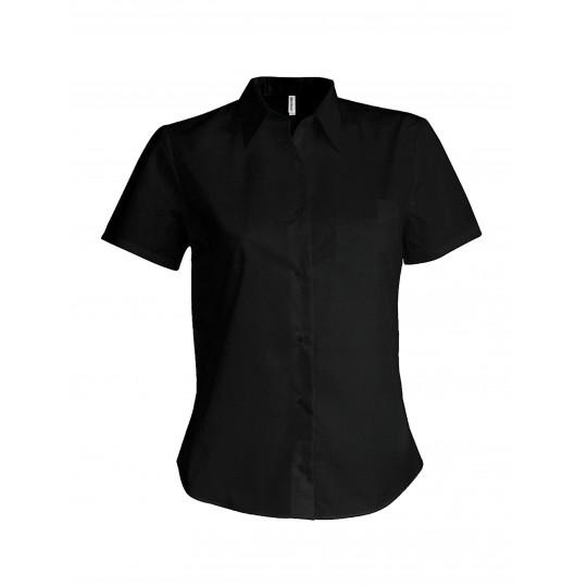 Camisa de senhora manga curta em popeline tratamento fácil