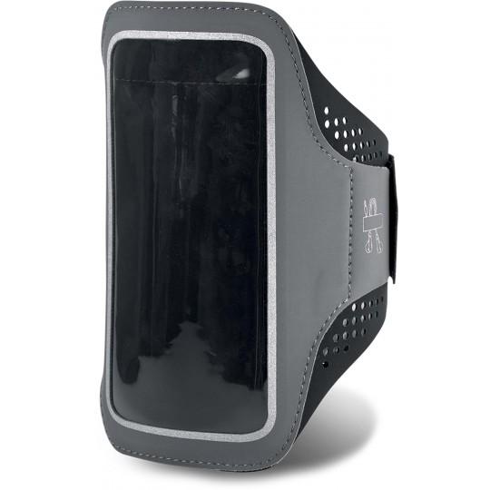 Braçadeira para smartphone com orifício de acesso para auriculares
