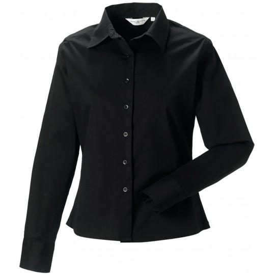Camisa de senhora de manga comprida em sarja
