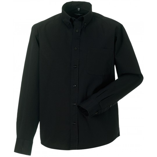 Camisa de homem de manga comprida em sarja Russell®
