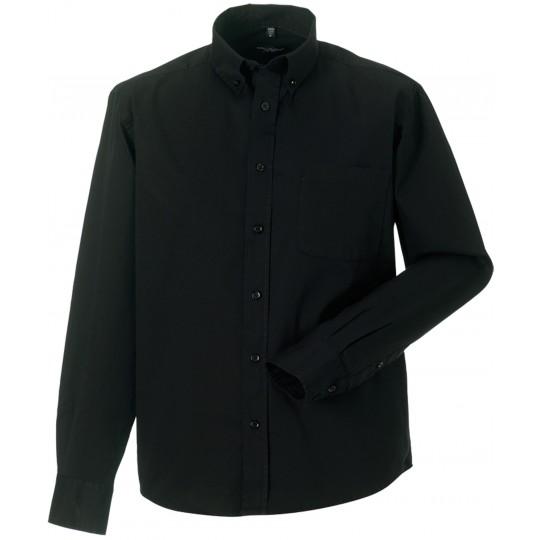 Camisa de homem de manga comprida em sarja