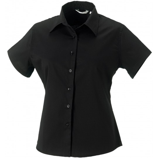 Camisa de senhora de manga curta em sarja Russell®