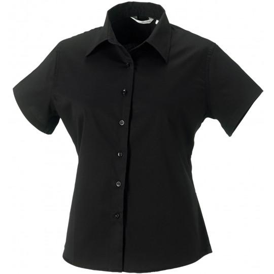 Camisa de senhora de manga curta em sarja