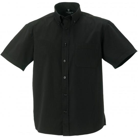 Camisa de homem de manga curta em sarja