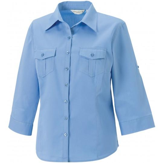 Camisa de senhora com manga a 3/4 ajustável