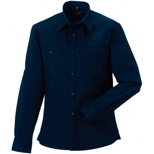 Camisa de homem de manga comprida ajustável