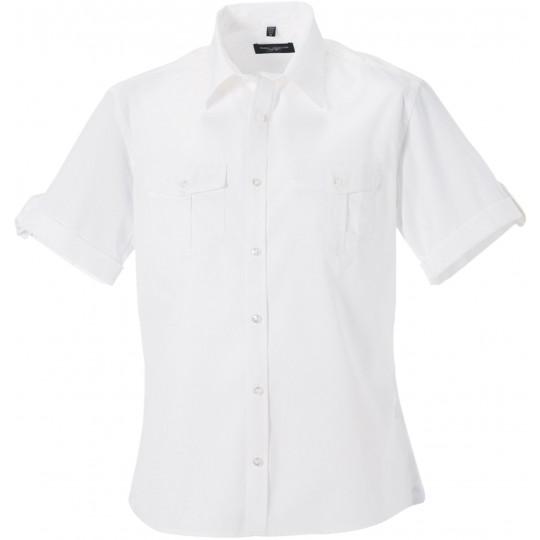 Camisa de homem de manga curta ajustável