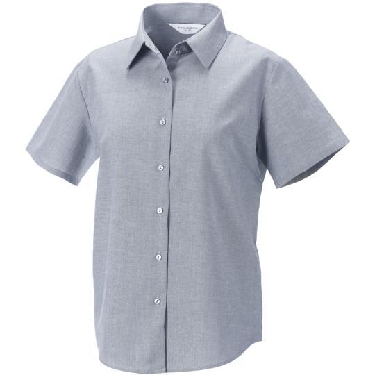 Camisa oxford de senhora de manga curta Russell®