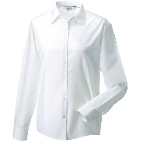 Camisa de senhora em popeline de manga comprida Russell®