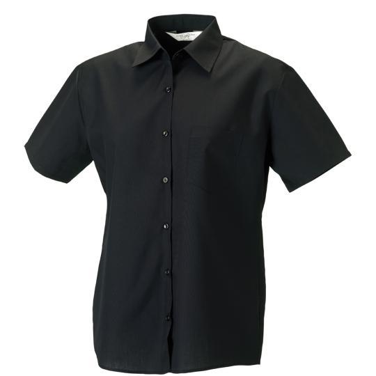 Camisa de senhora em popeline de manga curta Russell®
