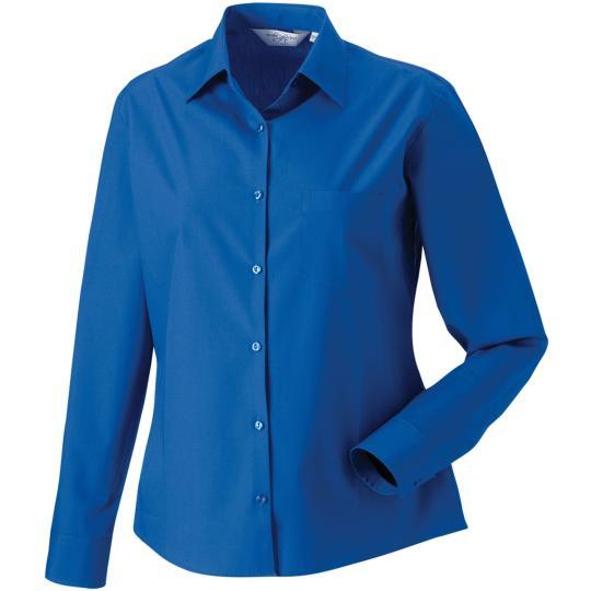 Camisa de senhora de manga comprida em popeline Russell®
