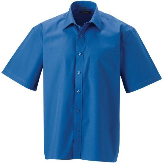 Camisa de homem de manga curta em popeline Russell®
