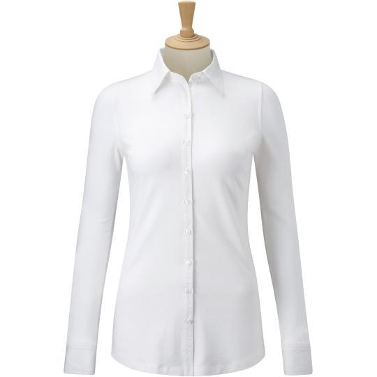 Camisa de senhora com Stretch de manga comprida Russell®