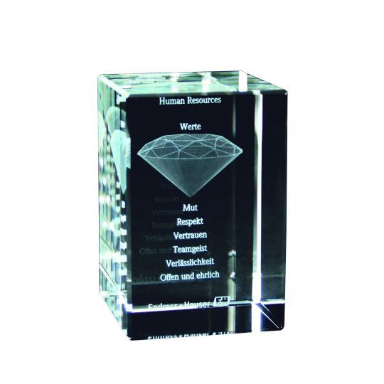 Troféu em Cristal 2D/3D