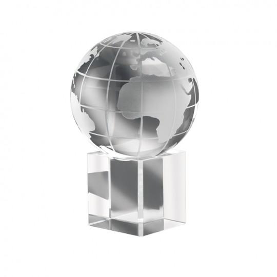 Pisa-papéis globo de vidro Mundi