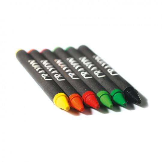 Estojo 6 lápis de cera