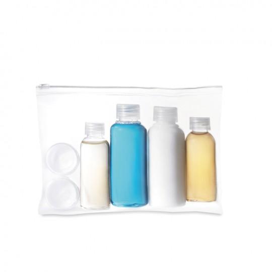 Bolsa de viagem com frascos