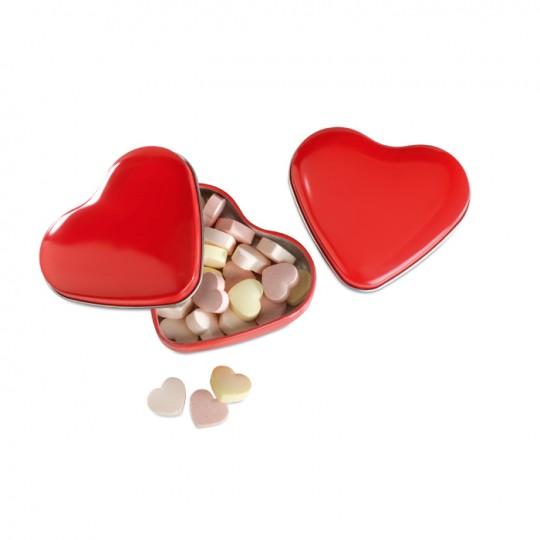 Caixa coração rebuçados