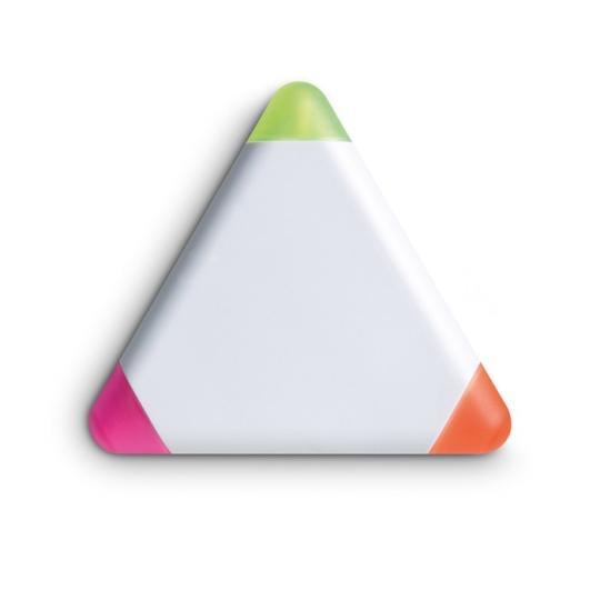 Marcador triangular c/3 cores