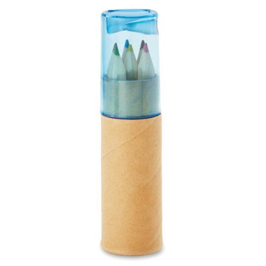 Tubo com 6 lápis de cor