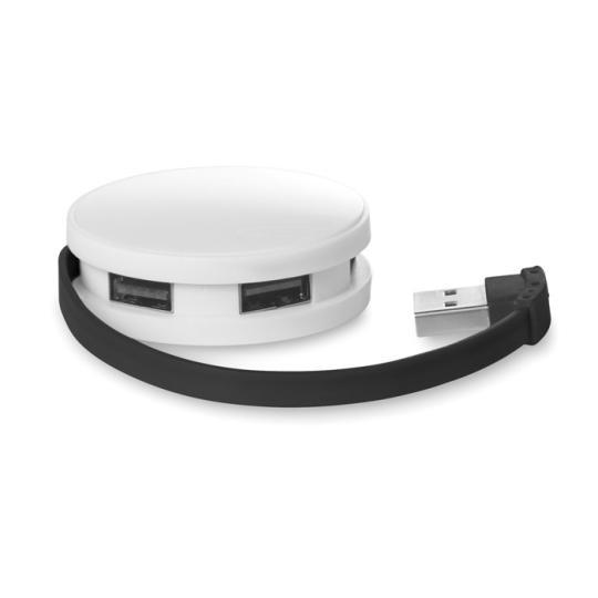Hub com 4 portas USB Roundhub