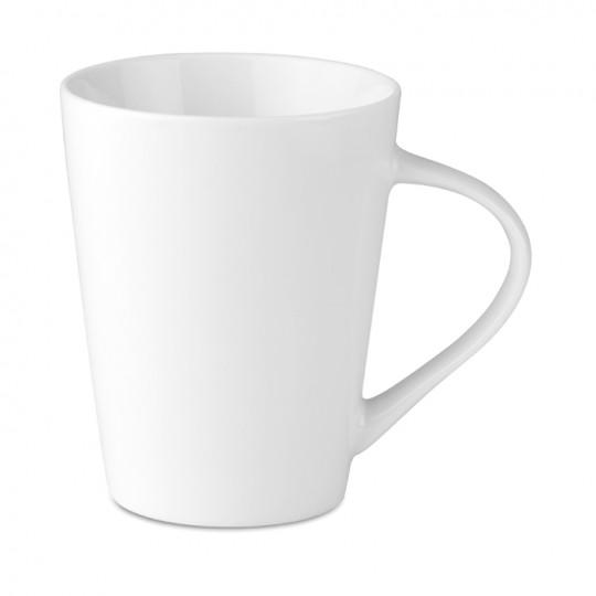 Caneca 250 ml cónica porcelana
