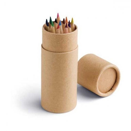 Caixa com 12 lápis de cor