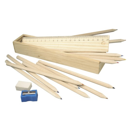 Estojo de madeira