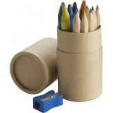 6 lápis de cor