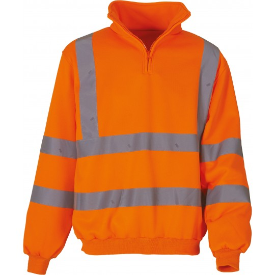 Sweatshirt meio fecho de alta visibilidade