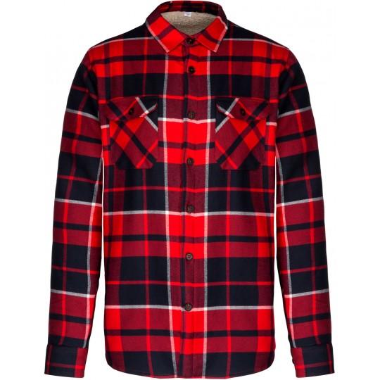 Camisa aos quadrados com forro em sherpa Kariban®