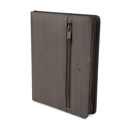 """Agenda """"Financeira"""" A5 com USB e powerbank 5000 mAh Pierre Delone®"""