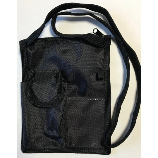 Bolsa com porta identificação e telemóvel de pescoço