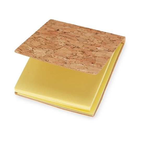 Bloco de cortiça com papel adesivo
