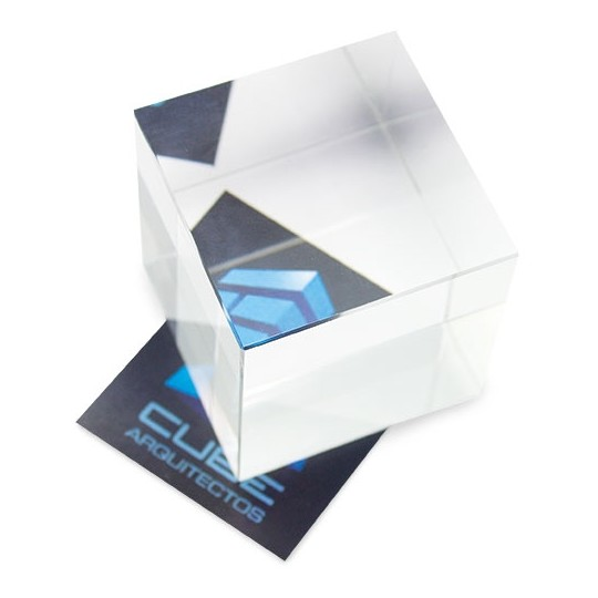 Troféu de vidro efeito visão lateral