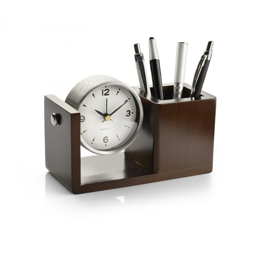 Porta Esferográficas com relógio Nutto