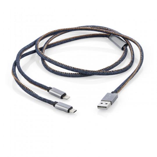 Cabo USB 2 em 1 Jeans