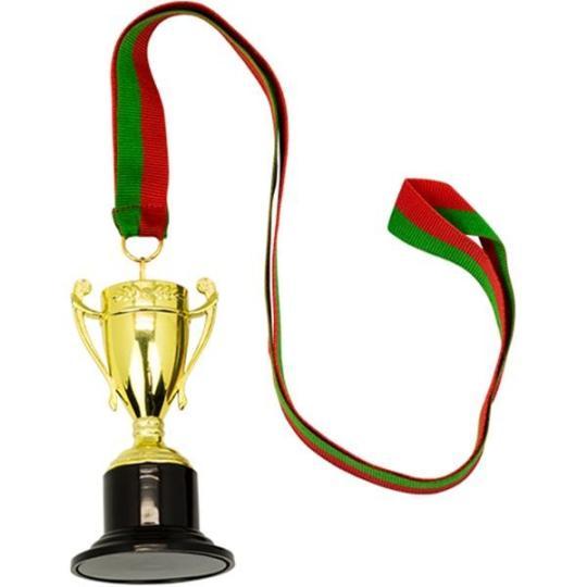 Mini Troféu/medalha em plástico