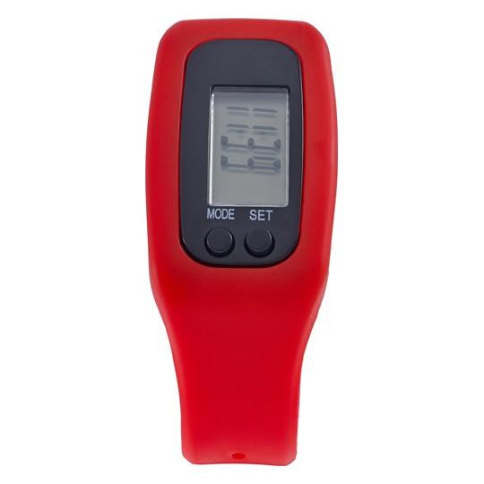 Pedómetro com pulseira em silicone