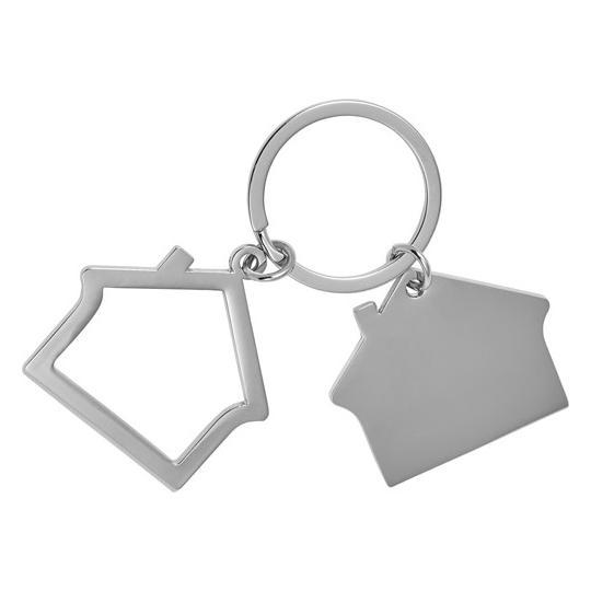 Porta-chaves em liga de zinco, em forma de casa