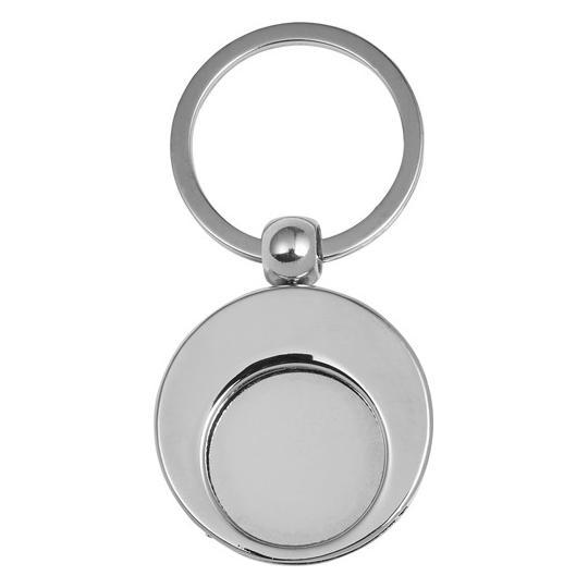 Porta-chaves em alumínio com ficha para carrinho de compras